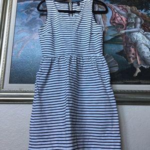 J. Crew Striped Dress with pockets size 6